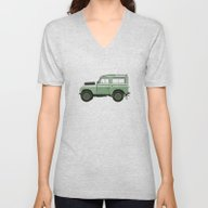 Car Illustration - Land … Unisex V-Neck