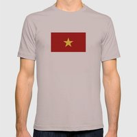 vietnam country flag star Mens Fitted Tee Cinder SMALL