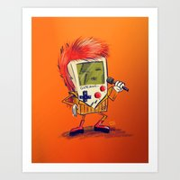 Game Bowie Art Print