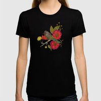 Contented Constance Womens Fitted Tee Black SMALL