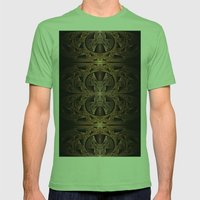 Steampunk Engine Abstrac… Mens Fitted Tee Grass SMALL