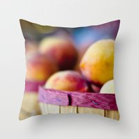 Oh, Peachy! Throw Pillow