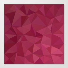 Maroon triangle tiles Canvas Print