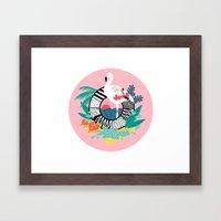 Flaming-oOO Framed Art Print