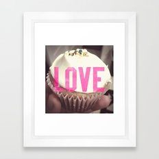 Love Cupcakes Framed Art Print