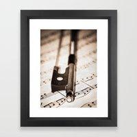 Violin Bow Framed Art Print