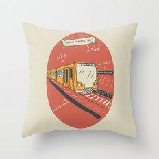U-BAHN  Throw Pillow