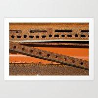 Orange Angle Art Print
