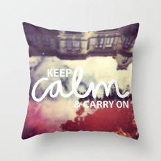 Keep Calm & Carry On Throw Pillow