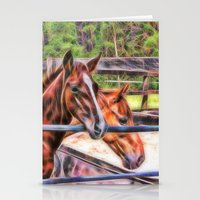 Horses And Gate Stationery Cards