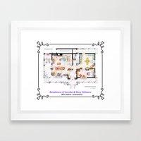 House of Lorelai & Rory Gilmore - Ground Floor Framed Art Print