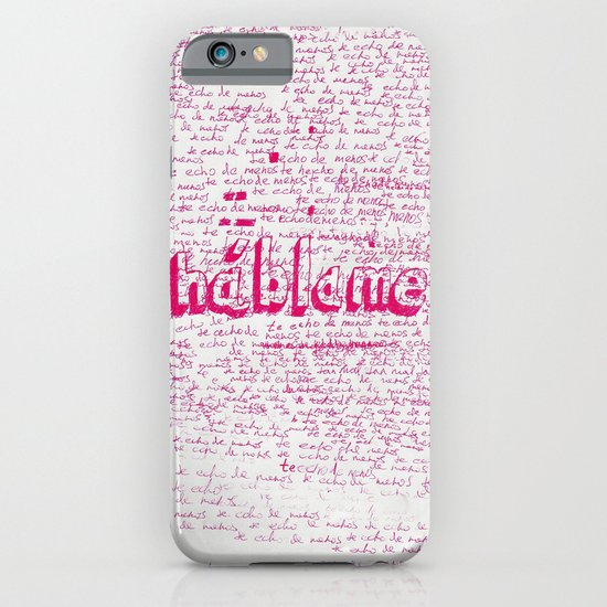 I Miss You. Talk to Me. iPhone & iPod Case