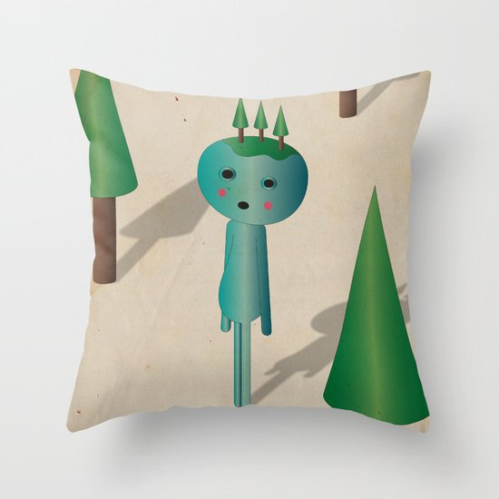 3 a l b e r i i n t e s t a Throw Pillow