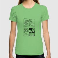 Worst Case Scenarios Womens Fitted Tee Grass SMALL