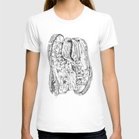 shoes Womens Fitted Tee White SMALL