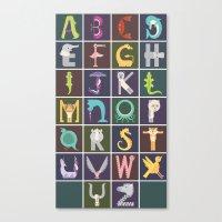 Vertical Animal Alphabet… Canvas Print