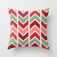 Zig Zag (red) Throw Pillow