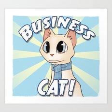 Business Cat! Art Print