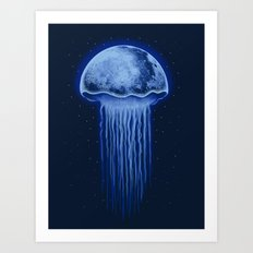 Moon Jellyfish Art Print