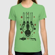 SELF-CONQUEST Womens Fitted Tee Grass SMALL