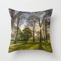 Green Park London Throw Pillow