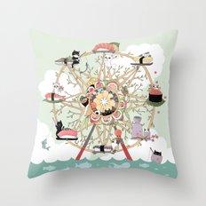 The Sushi Wheel Throw Pillow