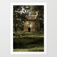 Secret house in the woods. Art Print