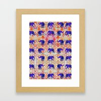 Tribal Elephant Framed Art Print