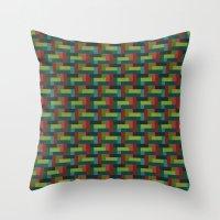 Woven Pixels IV Throw Pillow