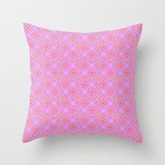 Pastel Broken Diamond Swirl Pattern Throw Pillow