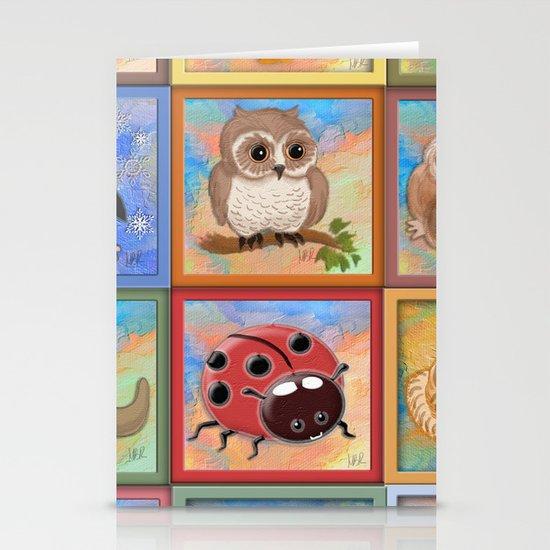 Baby animals Stationery Card