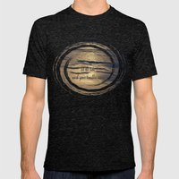 Golden Tide Mens Fitted Tee Tri-Black SMALL