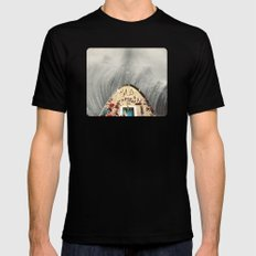 a great big wave (to wash it all away) - collab with sammy slabbinck Mens Fitted Tee Black SMALL