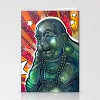 Glowing Buddha Stationery Cards