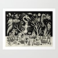 Out of the Thicket Art Print