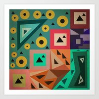 crazy triangles Art Print