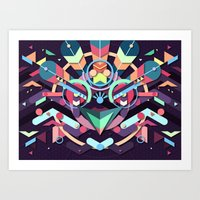 BirdMask Visuals - Peaco… Art Print