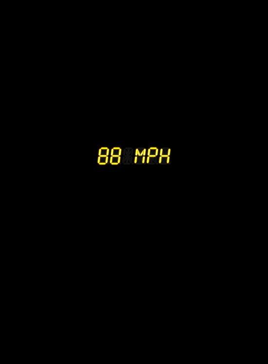 88 mph - Back to the future Canvas Print