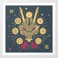 The Cult Of Shenron: Jap… Art Print