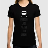 Little Miss Poster 02 Womens Fitted Tee Black SMALL