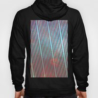 Red stripes on grunge background Hoody
