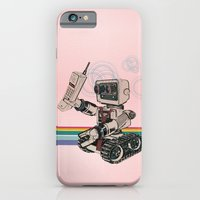 iPhone & iPod Case featuring 1980s Corporate Robot by David Finley
