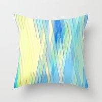 Re-Created Vertices No. 8 by Robert S. Lee Throw Pillow