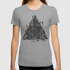 PLACE Triangle V2 Womens Fitted Tee Tri-Grey SMALL