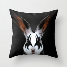 Kiss of a Rabbit Throw Pillow