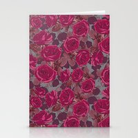 Roses In Mauve Stationery Cards