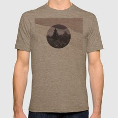 Abstract landscape Mens Fitted Tee Tri-Coffee SMALL