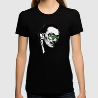 Dalì, what are you watching? Womens Fitted Tee Black SMALL