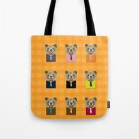 Little bear with tie Tote Bag