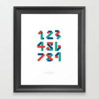 Number Framed Art Print